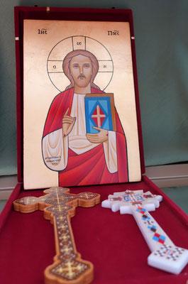 Ikone mit koptischen Kreuzen. Foto: Jennifer Peppler