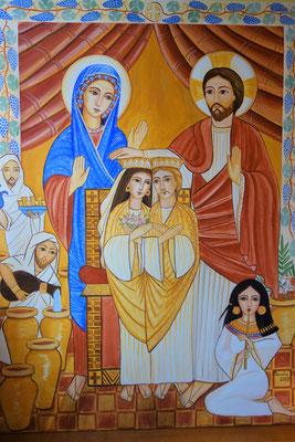 Die Hochzeit zu Kana. Malerei: Daniela Rutica. Foto: Foto: Jennifer Peppler