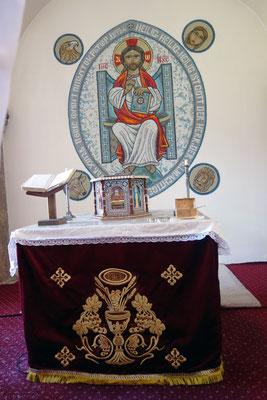 Der Altar im Allerheiligsten. Foto: Jennifer Peppler