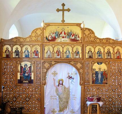 Die Ikonostase in der Kapelle des Klosters.  Foto: Jennifer Peppler