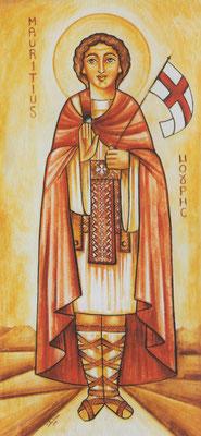 Der Hl. Mauritius als Patron des Koptischen Klosters Brenkhausen. Malerei: Dalia Sobhi. Foto: Jennifer Peppler