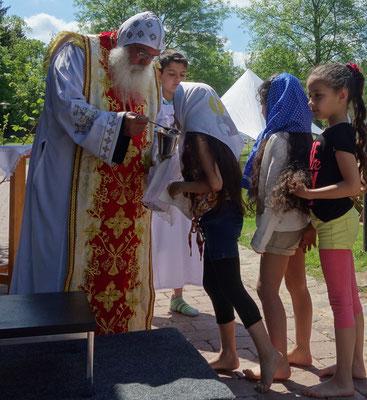 Koptisch-Orthodoxer Gottesdienst (OpenAir und in deutscher Sprache) mit Bischof Damian. Foto: Jennifer Peppler