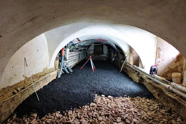 Arbeiten im Keller des Südflügels vom 21.02.2019. Foto: Jennifer Peppler