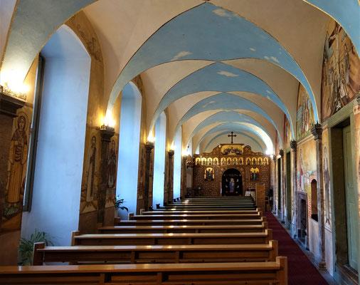 Die Klosterkapelle mit Malereien von Jesu und koptischen Heiligen. Foto: Jennifer Peppler