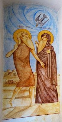 Hl. Paulus und Hl. Antonius. Malerei: Dr. René Stephan 2001. Foto: Jennifer Peppler