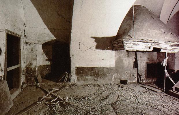 Der Zustand des späteren Speisesaals im Jahre 1993. Foto: LWL-DLBW