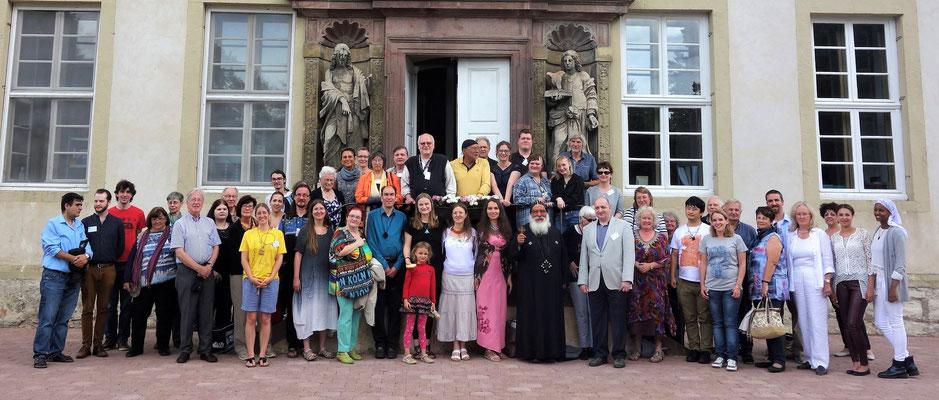 Teilnehmer der 10. Tage der Ägyptologie im Koptischen Kloster in Brenkhausen am letzten Juli- Wochenende 2016