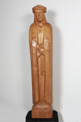 """ecce homo 2"", Akazienholz 1997, Höhe 158 cm. Foto: Ulrich Sprengel"