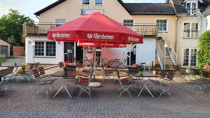 Außenbereich des St. Markus Restaurants.