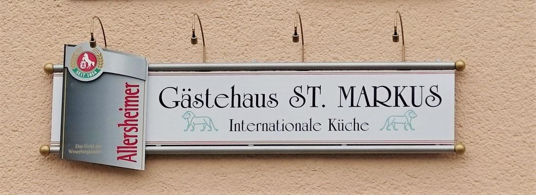 Gästehaus St. Markus mit Internationaler Küche gegenüber der katholischen Pfarrkirche St. Johannes Baptist im Ostflügel der Klosteranlage. Foto: Jennifer Peppler