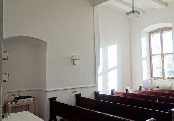 Der Medienraum im Erdgeschoss des Westflügels. Foto: Jennifer Peppler