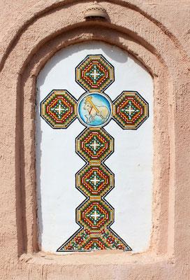 Koptisches Kreuz in Anaphora. Foto: Elfriede Putzer