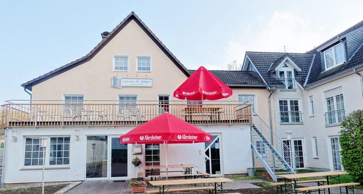 Gästehaus St. Markus & Restaurant mit internationaler Küche. Foto: Jennifer Peppler