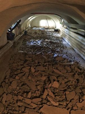 Der Keller im Südflügel wird ausgebaut. Foto: Bischof Damian