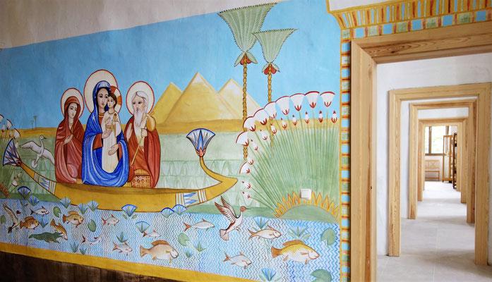 In den anderen neuen Themenräumen befindet sich eine Ausstellung über die Koptisch-Orthodoxe Kirche und deren heiligen 7 Sakramenten. Malerei: Daniela Rutica. Foto: Jennifer Peppler