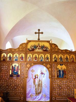 Die Ikonostase der Klosterkapelle. Foto: Jennifer Peppler