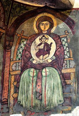 Malerei der Gottesmutter Maria mit Jesuskind im St. Antonius Kloster. Foto: Maria Hopp