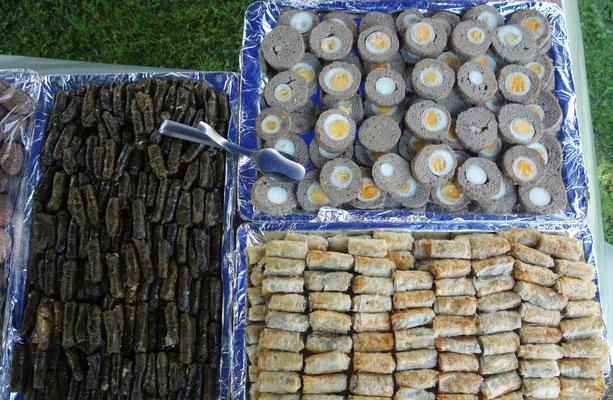 Neben deutschen Snacks wurden insbesondere auch ägyptische Spezialitäten geboten. Foto: Jennifer Peppler
