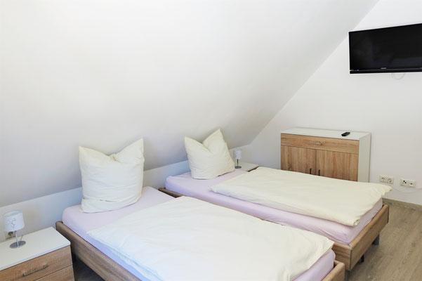 Doppelzimmer Kompfort im Gästehaus St. Markus. Foto: Jennifer Peppler