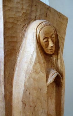 Die Hl. Maria als Patronin des Koptischen Klosters. Holzskulptur von Gunter Smidt-Riedig. Foto: Jennifer Peppler