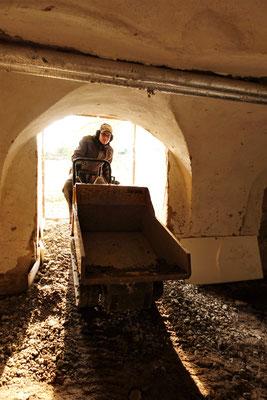 Arbeiten im Keller des Südflügels vom 31.01.2019. Foto: Jennifer Peppler
