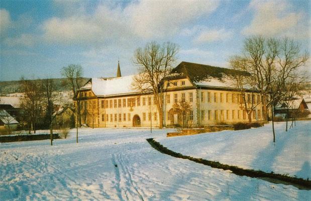 Das Koptisch-Orthodoxe Kloster im Schnee.