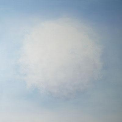 CUMULUS, 120x120cm, Öl auf Leinwand