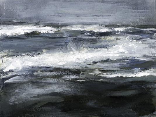 Alice Haring, vor dem Sturm1, 2014,  Öl auf Glas, 40x50cm