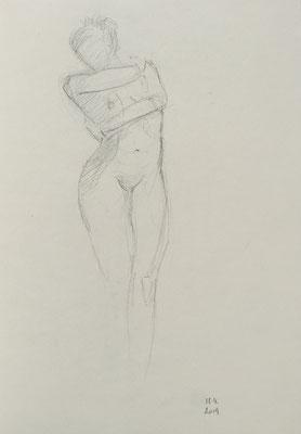 AKTSTUDIE, 28x20cm, Graphit auf Papier