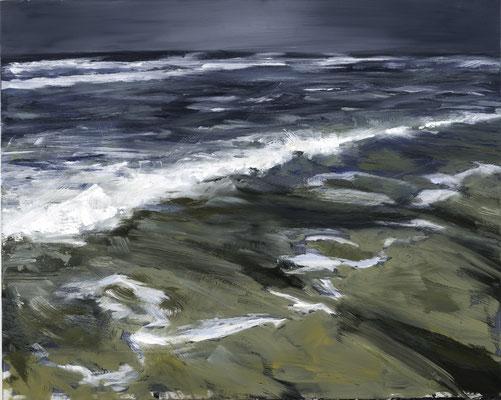 Alice Haring, vor dem Sturm2, 2014,  Öl auf Glas, 40x50cm