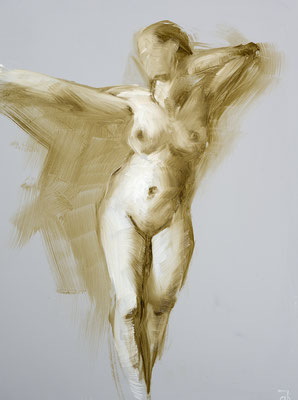 Alice Harig, Maren  2019, Öl auf Papier,  40x30cm