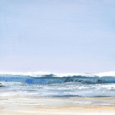 Alice Haring, Fronten  2019, Öl auf MDF,  15x15cm