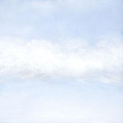 WOLKENBAND, 37x37cm, Öl auf Leinwand