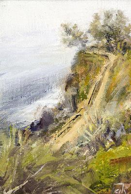 Alice Haring, Esalen  2015, Öl auf Leinen,  15x10,5cm