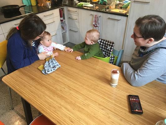 21.03.21 – Besuch bei Matthias, Janine mit Valentina