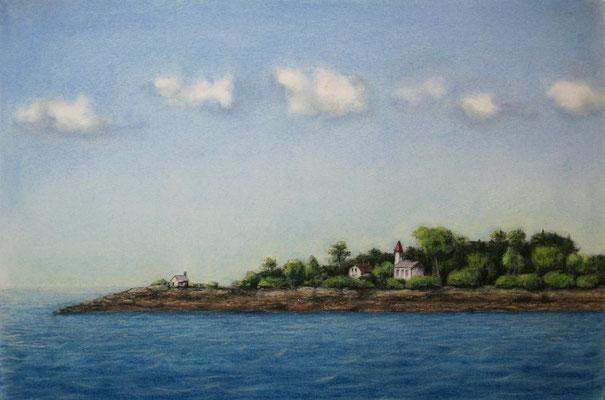 """""""Stille"""", Tinte und Pastell, 39 x 29 cm, 180 Euro"""