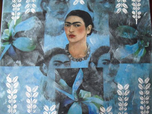 """""""Frida mehrfach"""" -  Collage  - Druck - Malerei"""