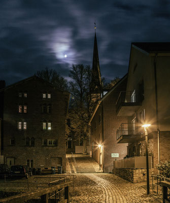 Oldesloe bei Nacht - Gisela Aul