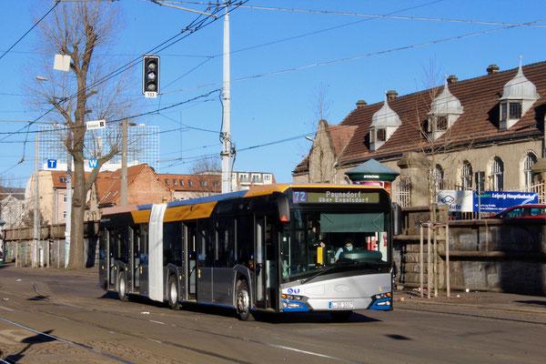 Neufahrzeug 14162 am 31.12.16 auf der Linie 72