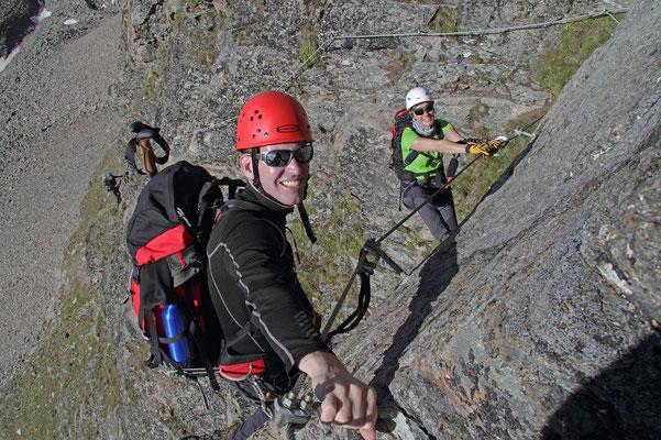 Der neue Klettersteig an der Tschengelser Hochwand