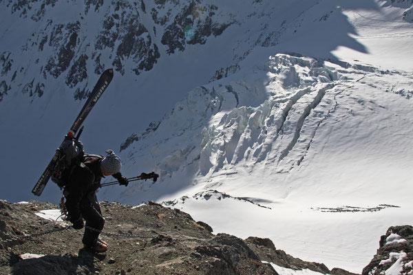 Abstieg zum Glacier de Valsorey