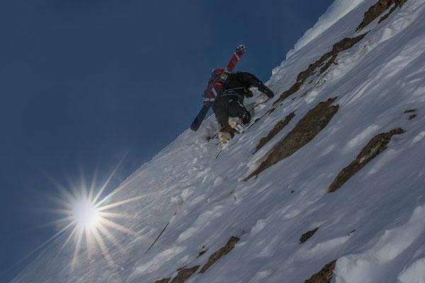Heikler Abstieg vom Grieshorn