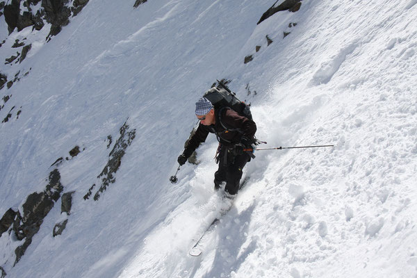 Konzentration am Glacier de Valsorey