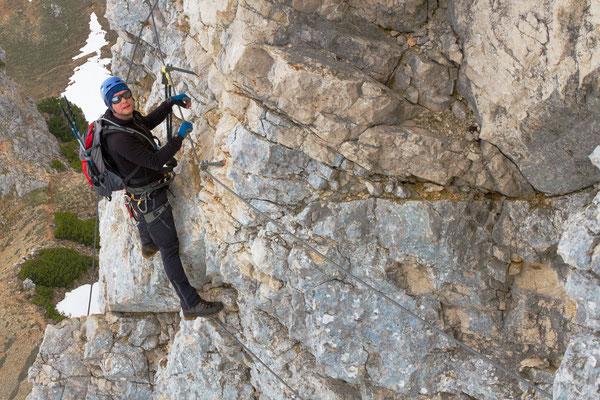 Klettersteig an der Haidachstellwand, B/C