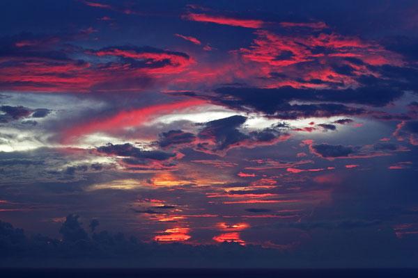 Nach Sonnenuntergang an der Pazifikküste, Nähe Dominical