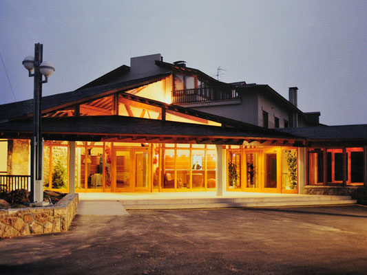 Estructura vestíbul hotel El Montanyà