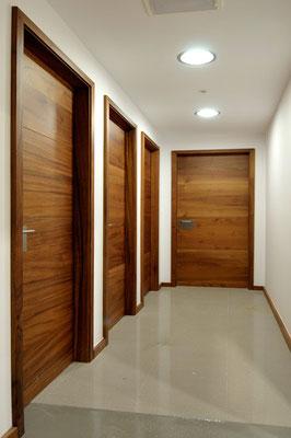 Doors in a hallway