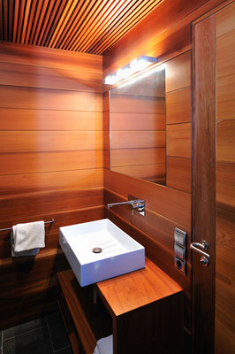 Canadian cedar wood bathroom
