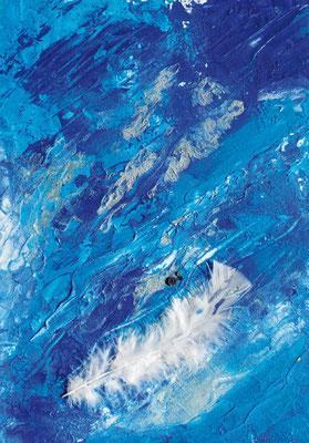 CO-W3 Wellen der Gnade /  / Acryl auf Leinenkarton 30x40 mit Feder