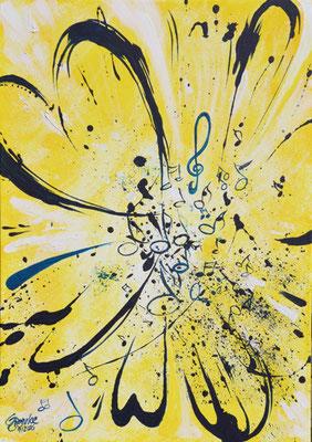 CO-Heart of Worship / Acryl auf Leinwand 50x70